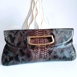 Abas Snakeskin Clutch Bag